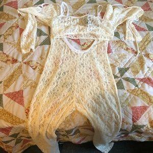 Lace jumpsuit set
